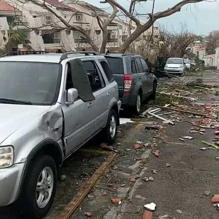 Así quedaron las calles de Saint Martin tras el paso del huracán