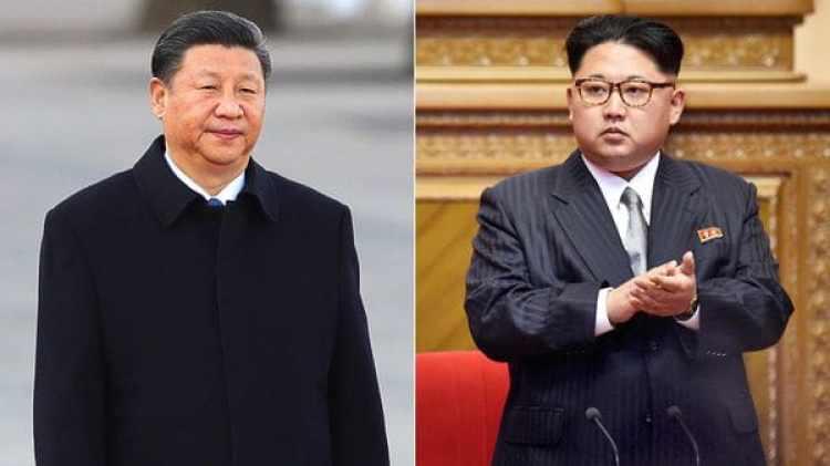 El presidente de China Xi Jinping y el líder norcoreano Kim Jong-un