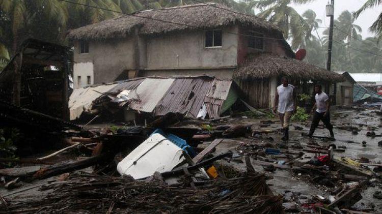 Destrozos en Nagua(Reuters)