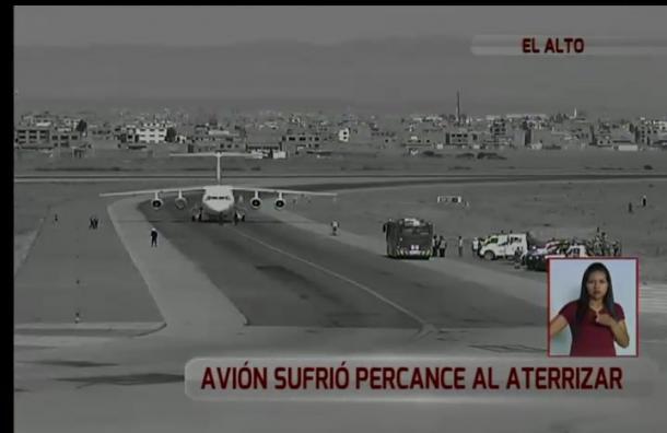 Rayo golpeó ala de avión al aterrizar en el aeropuerto de El Alto