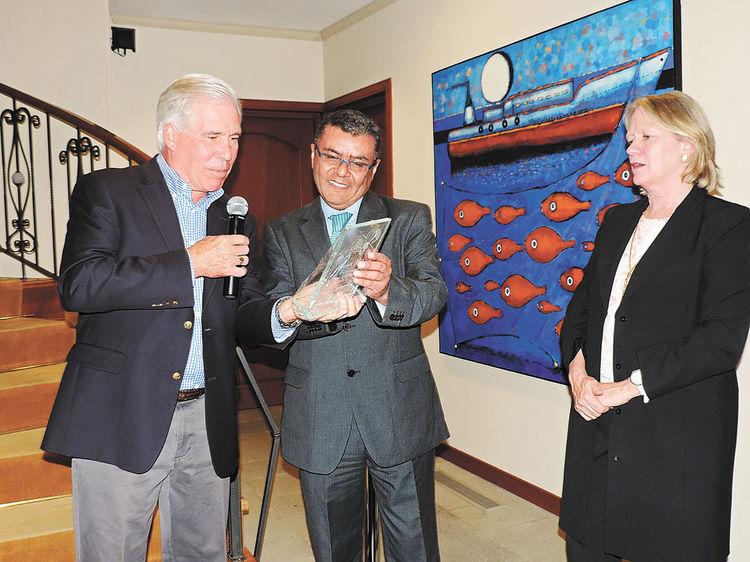 Peter Brennan, Erick Foronda y Elizabeth Brennan. Foto: Mitsuko Shimose
