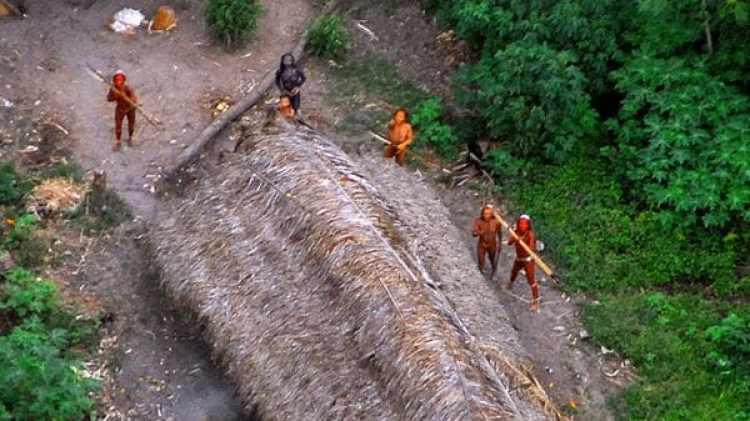 """Miembros de una tribu desconocida del Amazonas sin contacto con la """"civilización"""" fueron vistos en 2008 (Survival International)"""