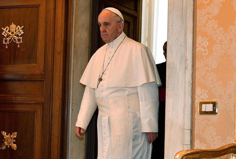 El papa Francisco en el Vaticano antes de iniciar la jornada de este jueves. Foto: EFE
