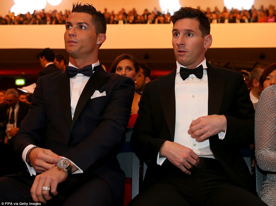 Image result for messi y ronaldo de gala