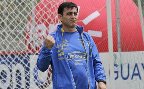 Gustavo Quinteros, seleccionador de Ecuador.