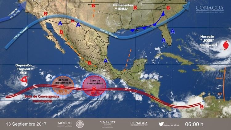 Alerta de ciclón tropical en México