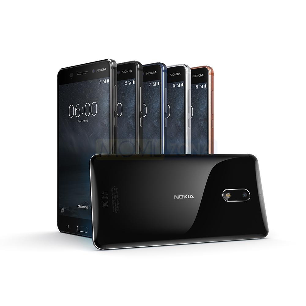 Nokia 6 en diferentes colores