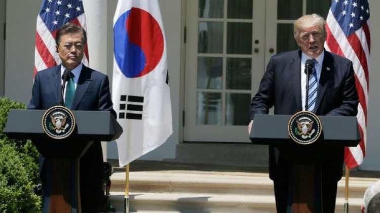 Donald Trump junto al presidente deCorea del Norte (Reuters)