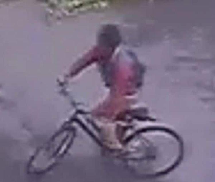 La imagen del sospechoso de la violación, captado por una cámara de seguridad