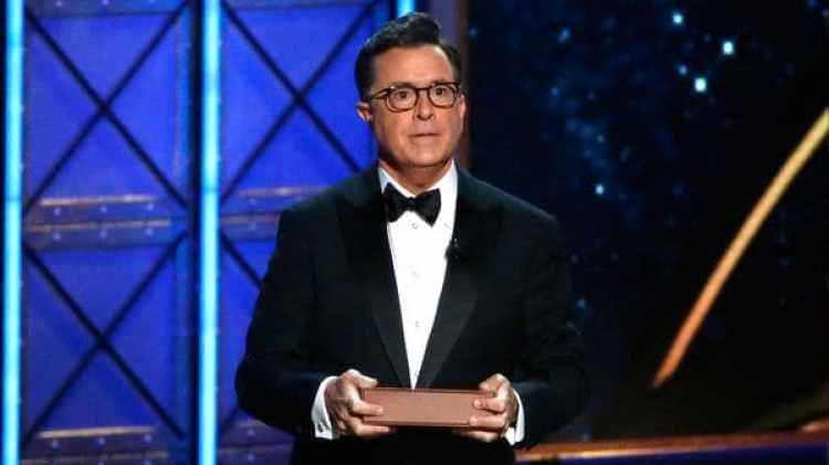Stephen Colbert, el anfitrión de la ceremonia (Reuters)
