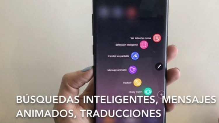 Bixby, el asistente virtual de Samsung, permite realizar búsquedas inteligentes y traducciones automáticas con el lápiz óptico S Pen