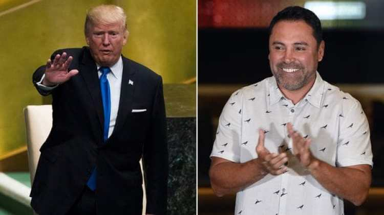 Óscar de la Hoya ha enviado un mensaje a Donald Trump luego del terremoto en México