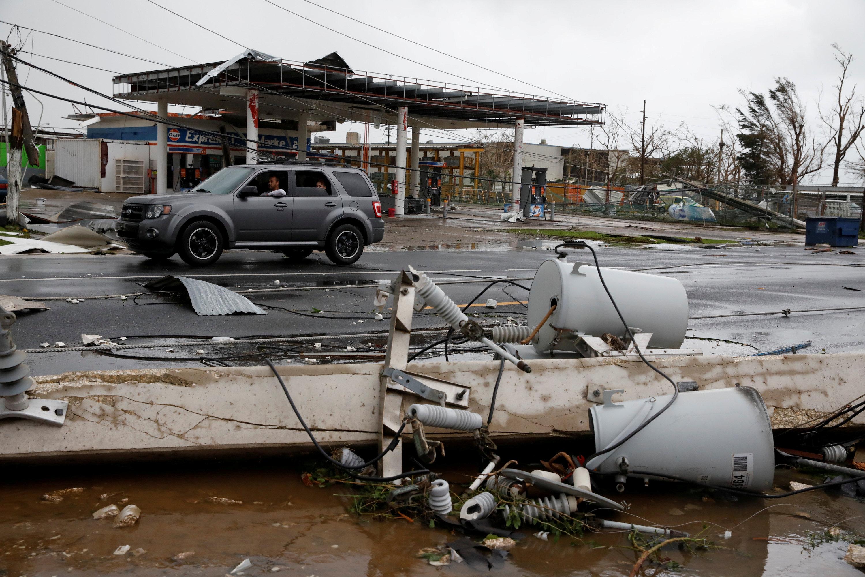 Paisajes de la devastación en Puerto Rico. (REUTERS/Carlos Garcia Rawlins)
