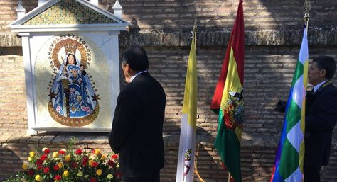 Desde ahora la imagen de la Virgen de Copacabana ocupa un lugar en la Santa Sede. (Foto CEB)