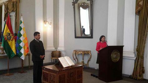Acto de posesión de María Luisa Ramos como viceministra de Relaciones Exteriores.