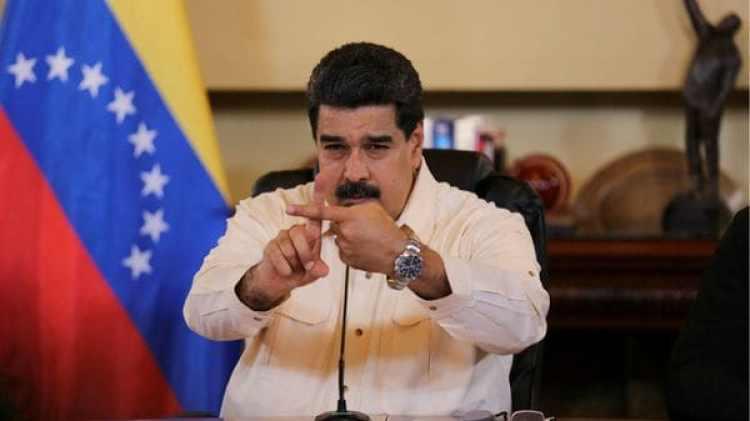 El presidente venezolano Nicolas Maduro durante un encuentro con ministros y gobernadores chavistas en Caracas (Reuters)