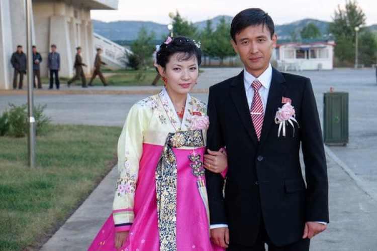 Unamatrimonio norcoreano de clase alta