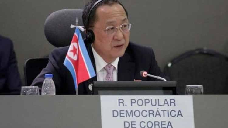 El canciller norcoreano Ri Yong-ho