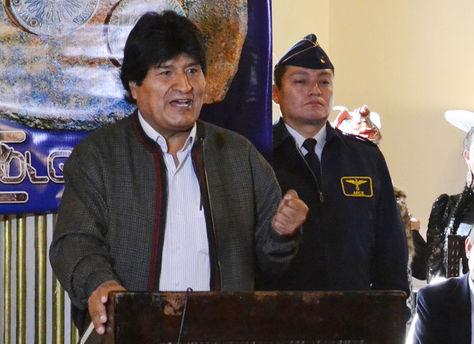 El presidente Evo Morales en un discurso.