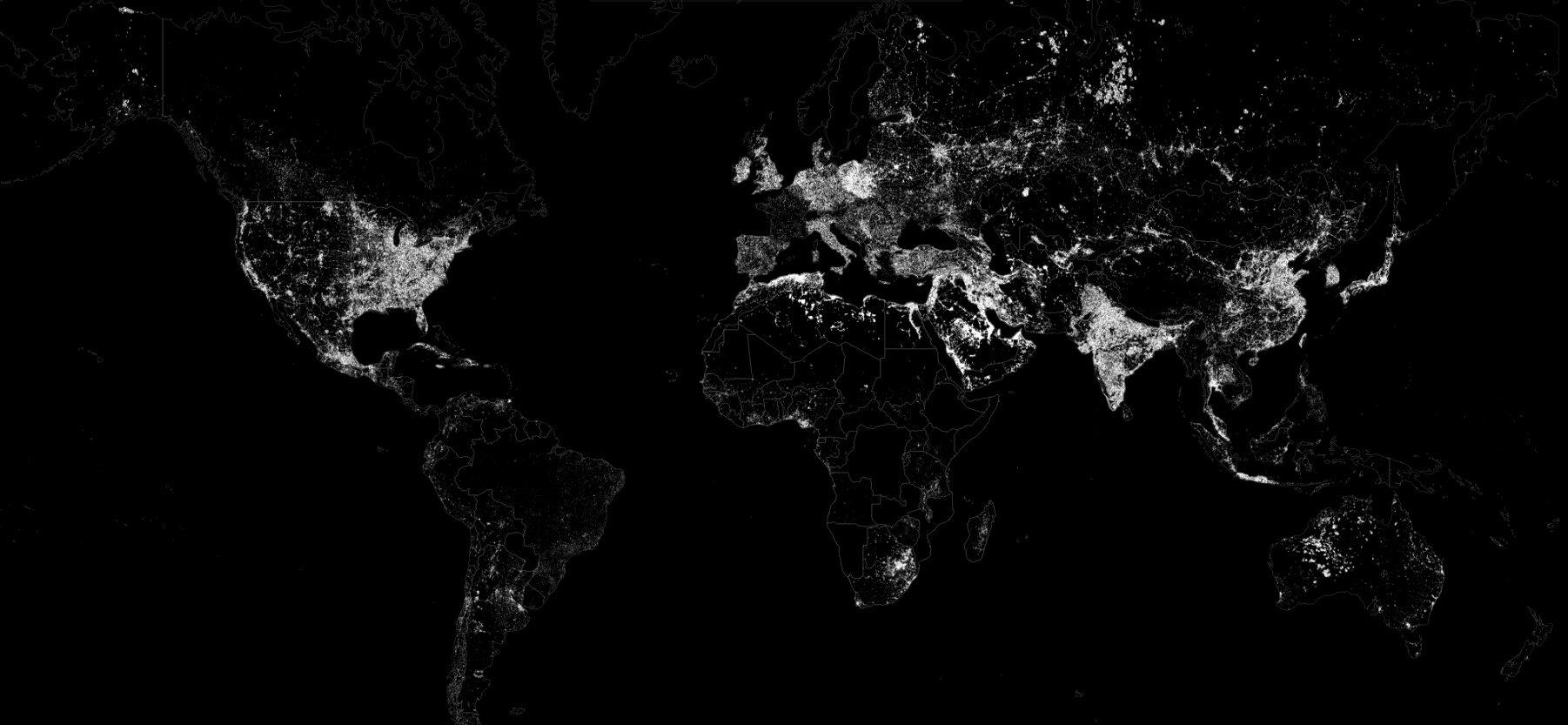 El mundo iluminado sólo por combustibles fósiles / GoCompare