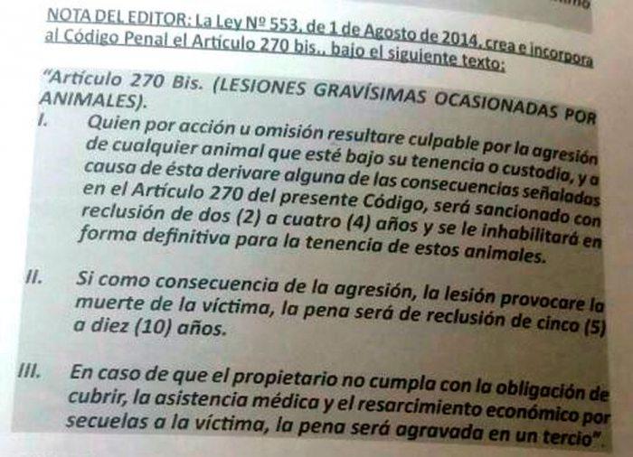 CÓDIGO DE PROCEDIMIENTO PENAL, ARTÍCULO 270.