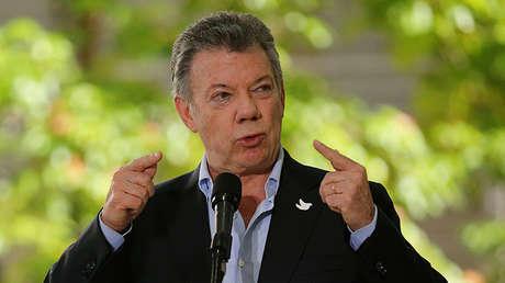 El presidente de Colombia, Juan Manuel Santos, durante la XII Cumbre Alianza del Pacífico en Cali, Colombia, 30 de junio de 2017.