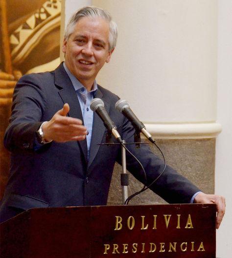 El vicepresidente Álvaro García Linera.