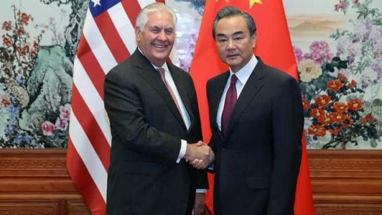 El secretario de Estado norteamericano, Rex Tillerson, y su homólogo chino, Wang Yi (Reuters)