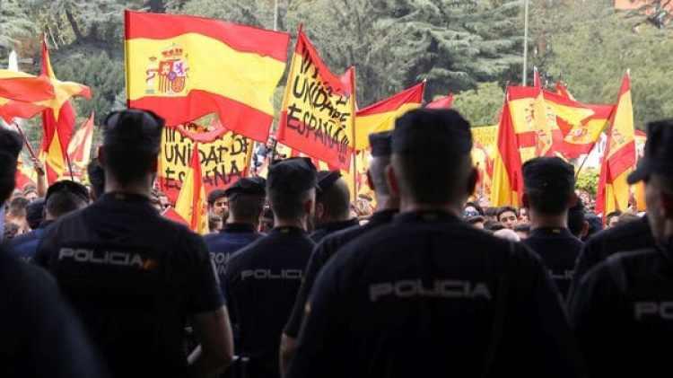 Convocados por la Fundación Denaes para la Defensa de la Nación, la marcha más convocante se da en Madrid (Reuters)