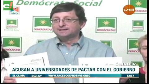 Oposición acusa a universidades públicas de pactar con el Gobierno