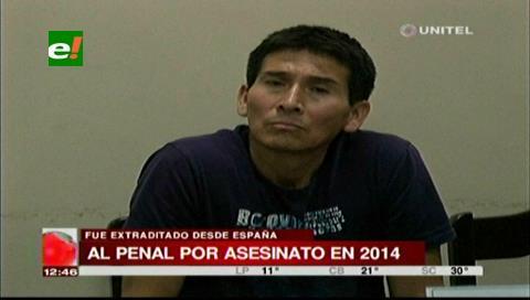 Envían a Palmasola a hombre que fue extraditado bajo la acusación de asesinato