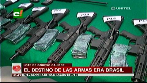 Las armas secuestradas por la Policía iban con destino a Paraguay y Brasil