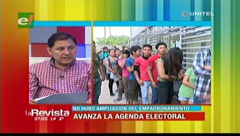 Santa Cruz: 53.167 personas se empadronaron para elecciones judiciales
