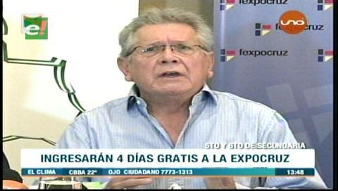 Estudiantes ingresarán gratis cuatro días a Expocruz