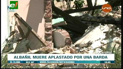Albañil muere aplastado por una barda