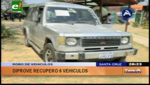 Diprove recuperó 6 vehículos robados