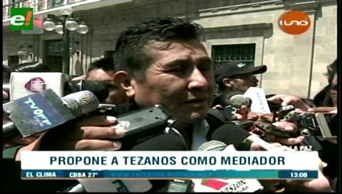 Gobierno propone a Tezanos como mediador en el conflicto de Achacachi