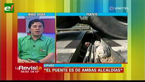 Buscarán que las alcaldías de Santa Cruz y Porongo cumplan con el mantenimiento del puente Urubó