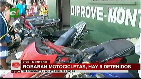 Montero: Diprove recuperó 15 motos robadas y detuvo a seis personas