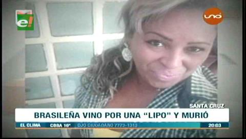 Clínica aclara que brasileña falleció tiempo después de la cirugía de lipoaspiración