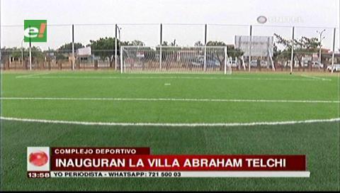 Inauguran parque deportivo más grande de Bolivia