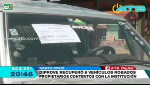 Diprove recuperó vehículos desvalijados por delincuentes