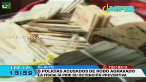 Piden detención preventiva para policías que robaron celulares y dinero