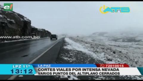 ABC cierra vías de Oruro Cochabamba y Potosí por intensa nevada
