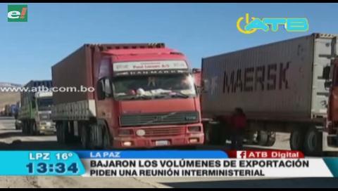 Transporte pesado se declara en emergencia por niveles bajos de exportación