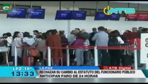 Trabajadores de Aasana confirman paro de actividades para este jueves