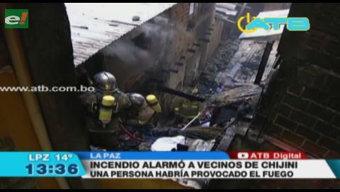 Detienen a una persona por provocar un incendio en La Paz