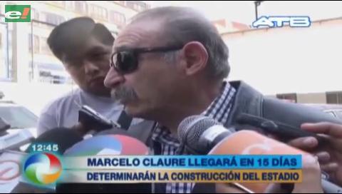 Claure llegará a La Paz para definir la construcción del estadio del Bolívar