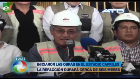 Iniciaron las obras de refacción en el Félix Capriles