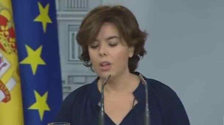 La vicepresidenta durante su conferencia de prensa
